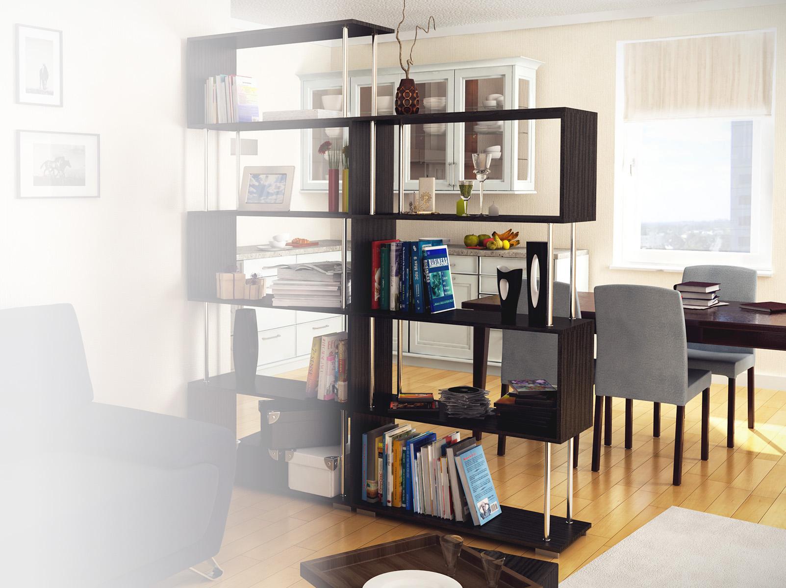 """Стеллаж """"Зигзаг - 2"""" (венге) дешево в Новосибирске — интернет-магазин мебели"""